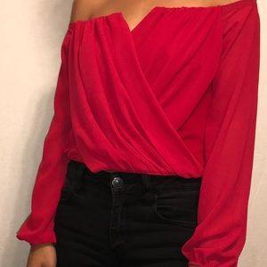 Formal red crop top